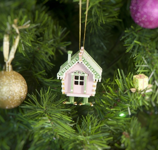 Новогодние украшения из дерева: Избушка на курьих ножках 3015