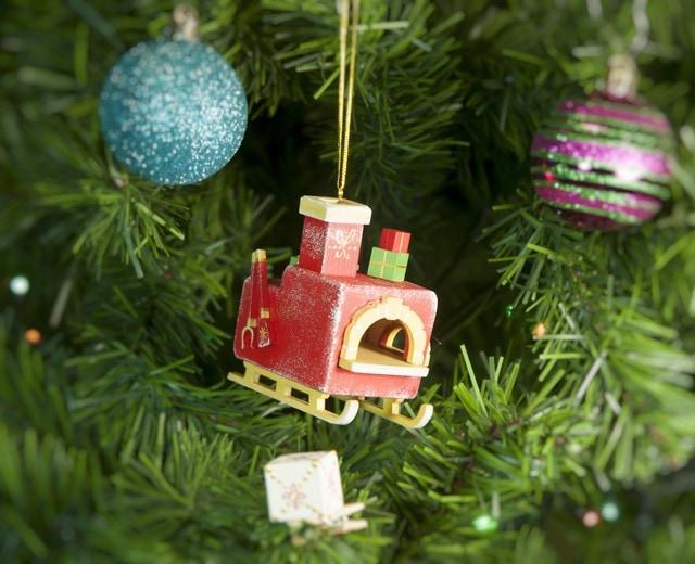 Новогодние елочные игрушки: Печка Русская 3020