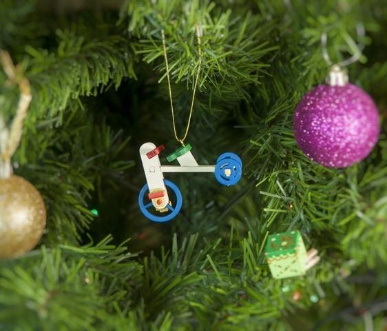 Елочная игрушка - Детский велосипед 1013 Classic Blue Wheels