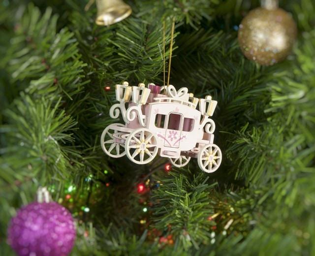 Новогодние елочные игрушки: Карета крытая 3015