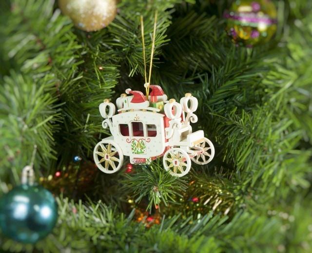 Елочная игрушка, сувенир - Карета крытая 3020 Santa