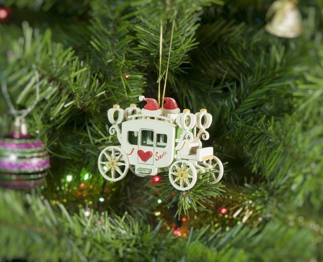 Елочная игрушка, сувенир - Карета крытая 6017 Heart Santa