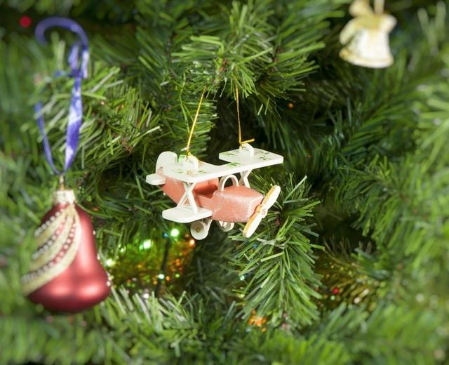Елочная игрушка, сувенир - Самолет Биплан 410-3 Classic