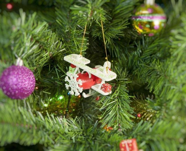 Новогоднее украшение интерьера: Самолет Биплан 3020 Winter