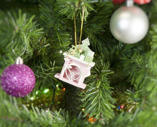 Елочная игрушка - Камин 3015 P Tree