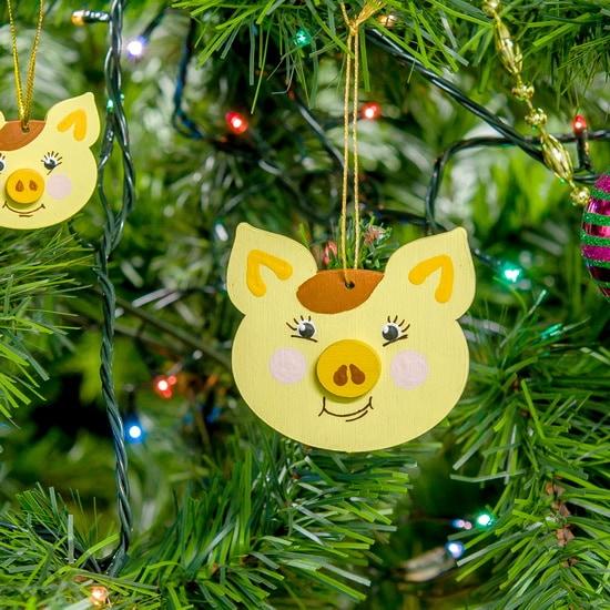 Новогодние украшения: символ 2019 года - Свинка подвеска 270-1