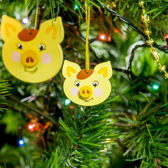 Новогодние украшения: символ 2019 года - Свинка подвеска малая 270-1
