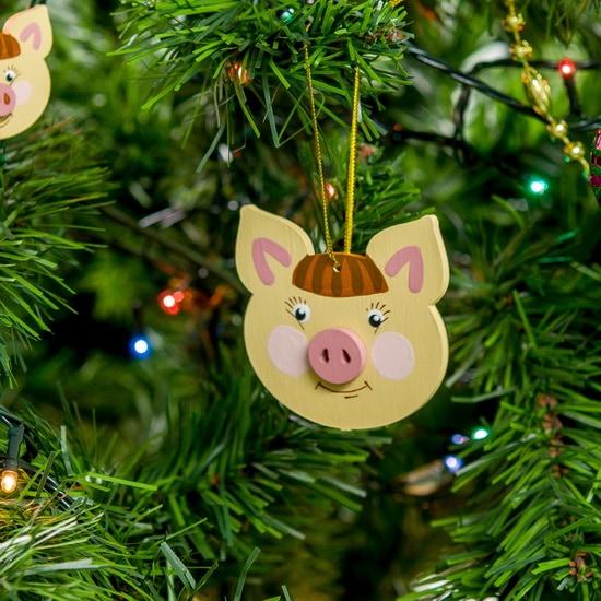 Новогодние украшения: символ 2019 года - Свинка подвеска 310-2