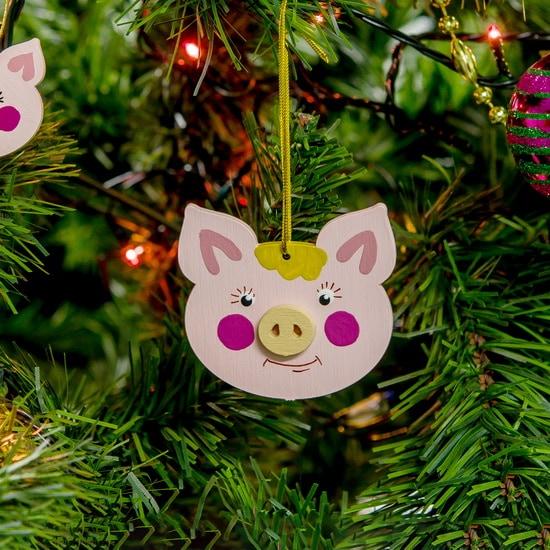 Новогодние украшения: символ 2019 года - Свинка подвеска 490-1