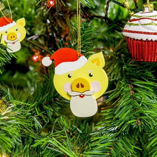 Новогодние украшения: символ 2019 года - Свин подвеска - Christmas Pig 270-1