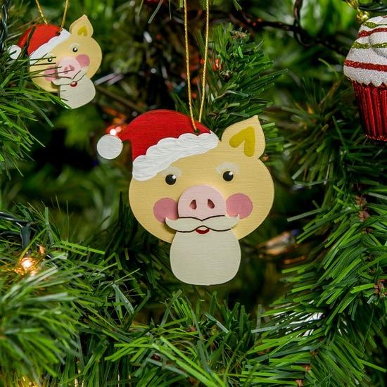 Символ 2019 года - Свин подвеска - Christmas Pig 310-2