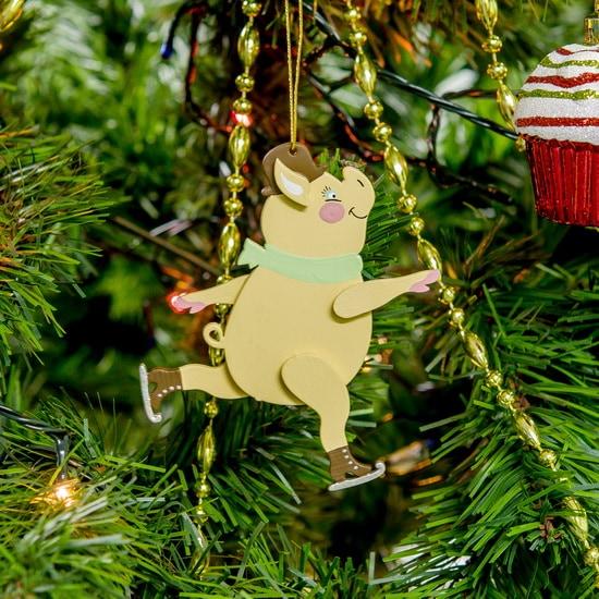 Новогодние украшения: символ 2019 года - Свин фигурист 310-2