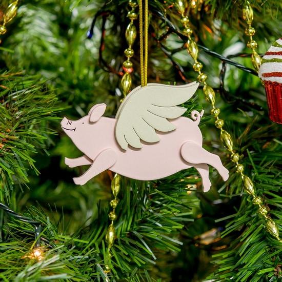 Новогодние украшения: символ 2019 года - Свинка с крыльями 490-1
