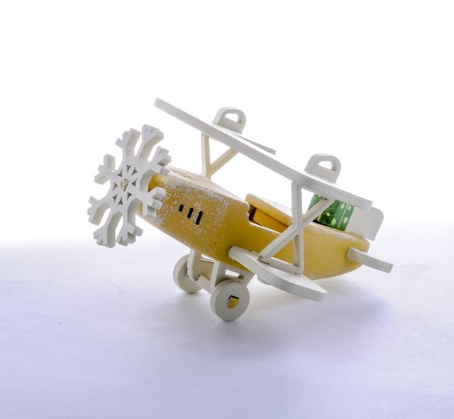 Елочная игрушка, сувенир - Самолет Биплан 290-3