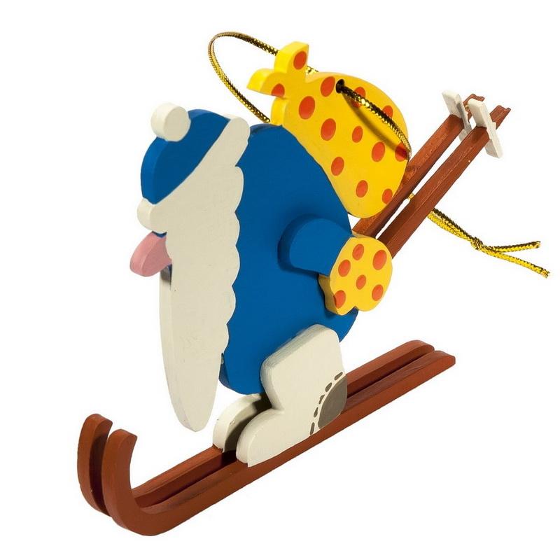 Елочные игрушки - Дедушка мороз 650-3