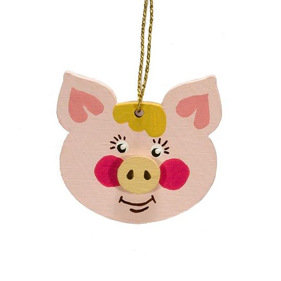 Елочные игрушки: символ 2019 года - Свинка подвеска малая 490-1