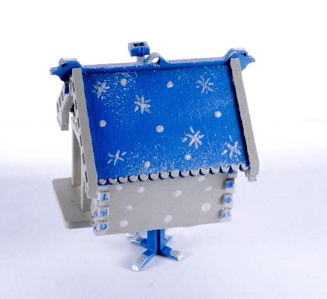 Праздничные новогодние украшения: Избушка на курьих ножках 1013 Blue