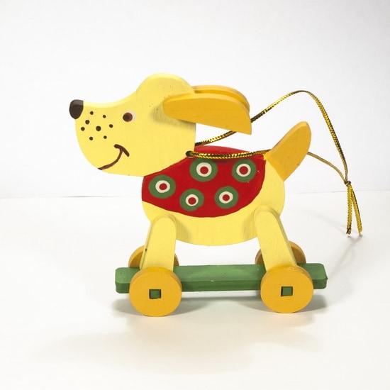 Елочные игрушки - Дворняжка желтая 270-1