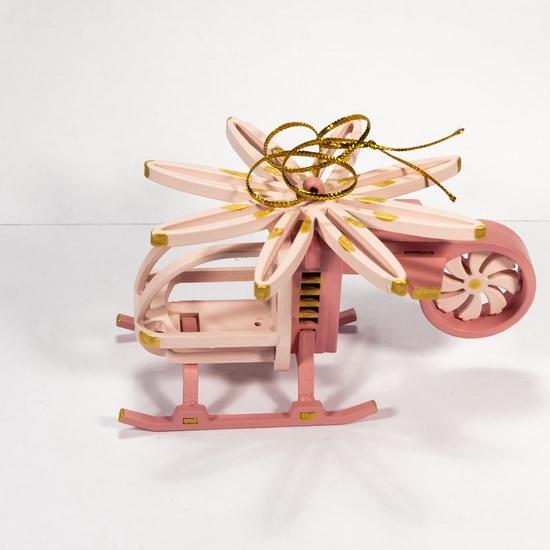 Елочная игрушка - Вертолет малый 3015
