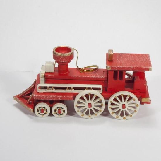 Елочная игрушка, сувенир - Ретро паровоз 3020