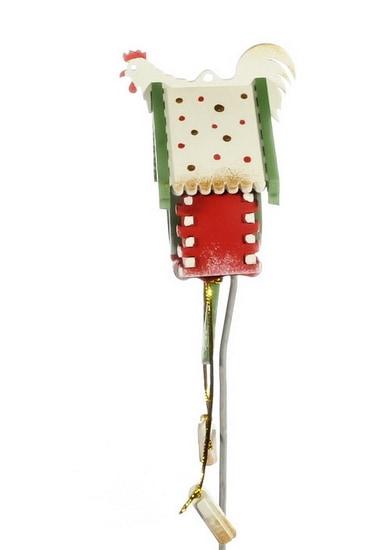 Елочная игрушка, сувенир - Часы с маятником 3020