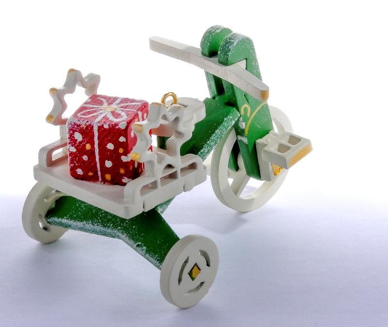 Елочная игрушка - Детский велосипед с багажником 6017 Star