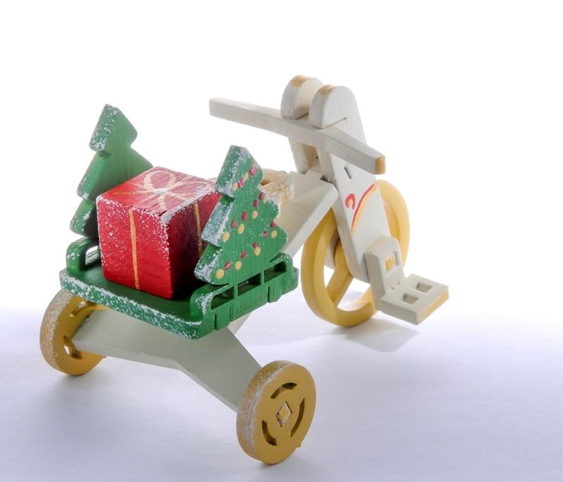 Елочная игрушка - Детский велосипед с багажником 1013 Tree