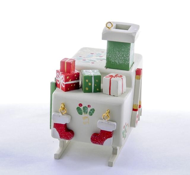 Елочная игрушка, сувенир - Печка Русская 1013 Green