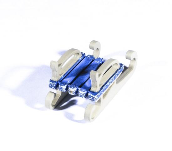 Елочная игрушка - Санки малые 640-6 Classic