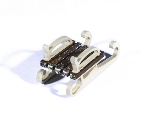 Елочная игрушка - Санки малые 8028 Classic