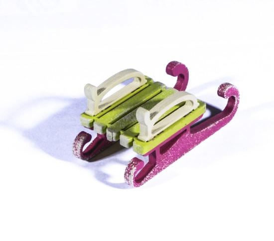 Елочная игрушка - Санки малые 90YY61-504 Classic