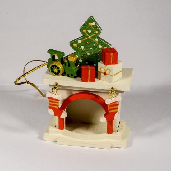 Елочная игрушка - Камин 1013 P Tree