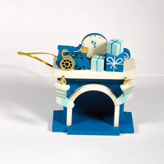 Елочная игрушка - Камин 650-3 P