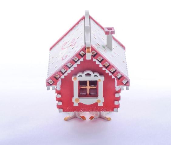 Елочная игрушка, сувенир - Избушка на курьих ножках 3020