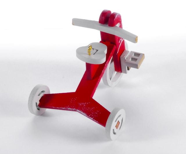 Елочная игрушка - Детский велосипед 3020 Classic White Wheels