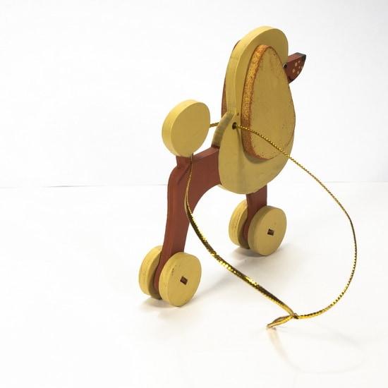 Елочная игрушка - Пудель пшеничный 290-3