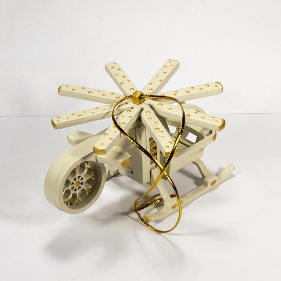 Елочная игрушка - Вертолет малый 1013 White winter