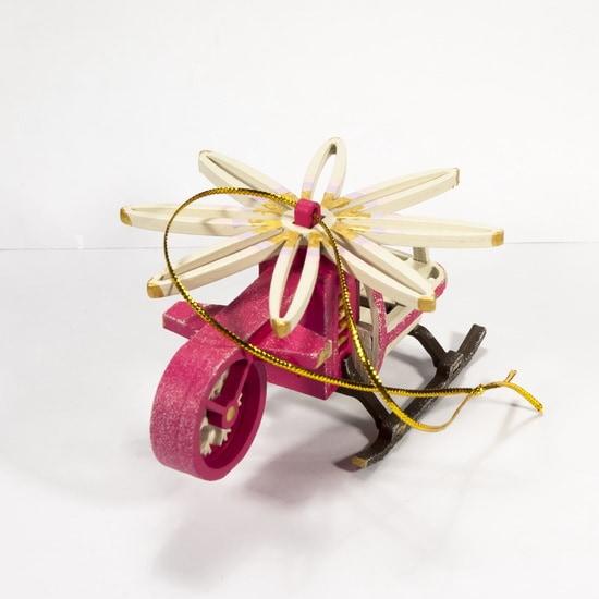 Новогодняя игрушка: Вертолет малый 4010