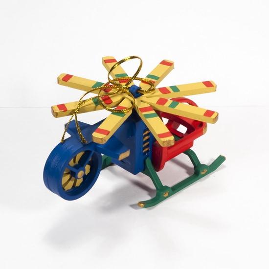 Елочная игрушка - Вертолет малый 640-6