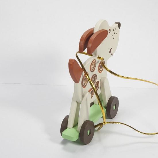 Елочная игрушка - Дворняжка белая 1013 Brown Spots