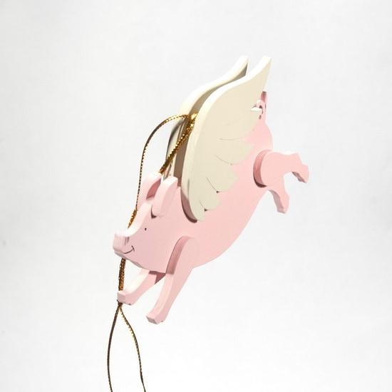 Символ 2019 года - Свинка с крыльями 490-1