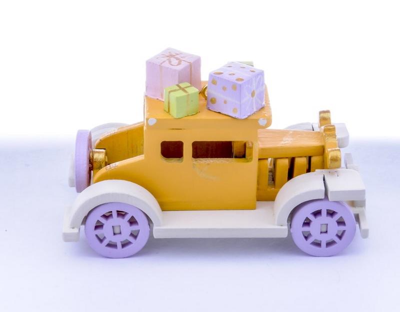 Елочная игрушка, сувенир - Машинка легковая 370-1