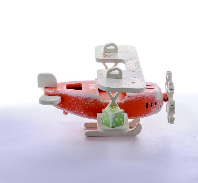 Елочная игрушка, сувенир - Самолет Биплан 410-3 Winter