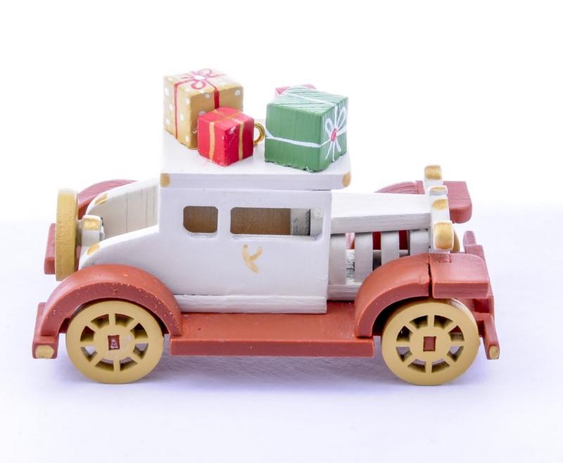 Елочная игрушка, сувенир - Машинка легковая 1013 Brown chassis