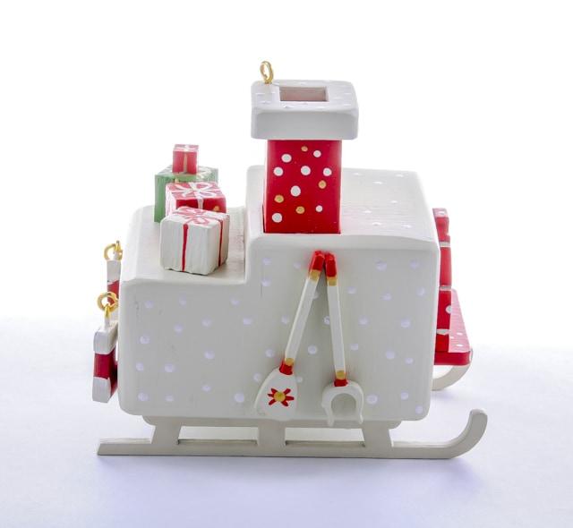 Елочная игрушка, сувенир - Печка Русская 1013 Red