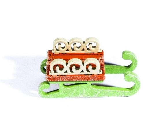 Елочная игрушка - Санки малые 410-3 Twirl