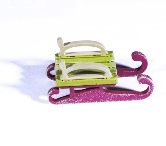 Елочные игрушки: Санки малые 90YY61-504 Classic