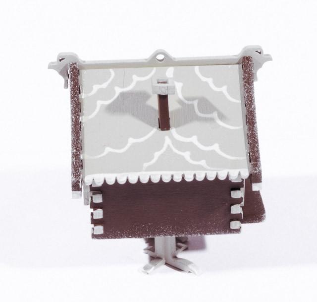 Елочная игрушка, сувенир - Избушка на курьих ножках 8028