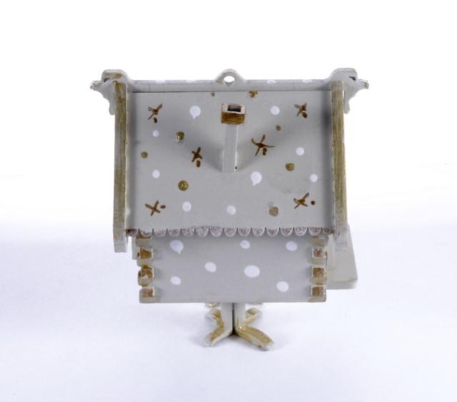 Елочная игрушка, сувенир - Избушка на курьих ножках 1013 White
