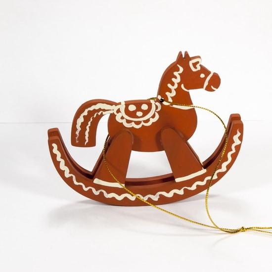 Елочные игрушки - Лошадка на качалке 360-5